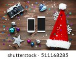 christmas and new year... | Shutterstock . vector #511168285