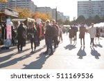 blurred street people in korea  ... | Shutterstock . vector #511169536