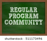 regular program community... | Shutterstock . vector #511173496