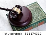 Law Gavel And Book Composition...