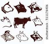 cow head portraits collection... | Shutterstock .eps vector #511176406
