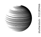 rotating sphere speed lines... | Shutterstock .eps vector #511185466