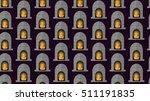 flat design style winter...   Shutterstock .eps vector #511191835