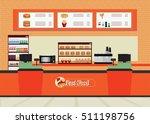 fast food restaurant interior...   Shutterstock .eps vector #511198756