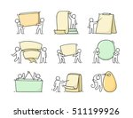 cartoon set of sketch little... | Shutterstock .eps vector #511199926