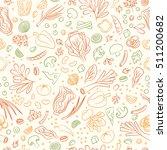 veggie seamless pattern with... | Shutterstock .eps vector #511200682