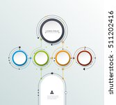 vector molecule with 3d paper...   Shutterstock .eps vector #511202416