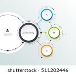 vector molecule with 3d paper... | Shutterstock .eps vector #511202446