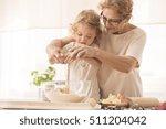 senior nanny helping child to... | Shutterstock . vector #511204042