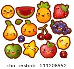collection of lovely baby fruit ...   Shutterstock .eps vector #511208992