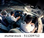 Flight Deck Of Modern Passenger ...