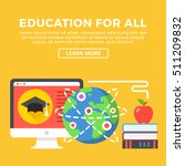 education for all concept.... | Shutterstock .eps vector #511209832