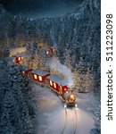 amazing cute christmas train... | Shutterstock . vector #511223098