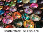 coconut shell bowls  colorful...   Shutterstock . vector #511223578