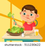 child character does not want... | Shutterstock .eps vector #511230622