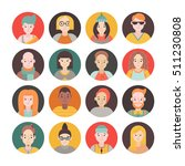 people flat circle icon vector... | Shutterstock .eps vector #511230808