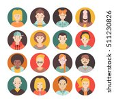 people flat circle icon vector... | Shutterstock .eps vector #511230826