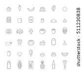 food and drinks outline icon... | Shutterstock .eps vector #511230838