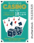 casino and poker night... | Shutterstock .eps vector #511231525