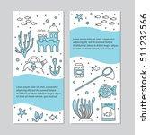 aquarium care. vector vertical... | Shutterstock .eps vector #511232566