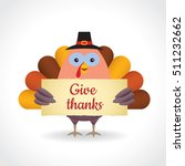 happy thanksgiving or give... | Shutterstock .eps vector #511232662