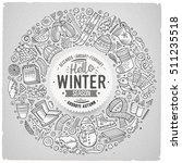 line art vector hand drawn set... | Shutterstock .eps vector #511235518