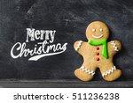 gingerbread man against... | Shutterstock . vector #511236238
