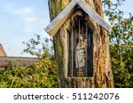 Holy Mary Figurine In A Niche...