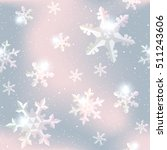 seamless snowflake pattern in... | Shutterstock .eps vector #511243606