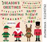 christmas vector characters ... | Shutterstock .eps vector #511243762