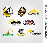 excavator logo design template. ... | Shutterstock .eps vector #511245748