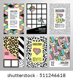 memphis cards with geometric... | Shutterstock .eps vector #511246618