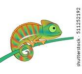 little colorful chameleon... | Shutterstock .eps vector #511252192