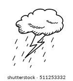 thunderstorm cloud doodle... | Shutterstock .eps vector #511253332
