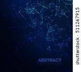 plexus lines and particles... | Shutterstock .eps vector #511267915
