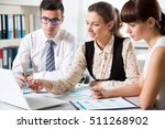 business people working on new... | Shutterstock . vector #511268902