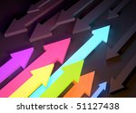 colourful glowing arrows... | Shutterstock . vector #51127438
