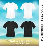 black and white man t shirt... | Shutterstock .eps vector #511277776