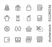 shopping icons with white... | Shutterstock .eps vector #511280236