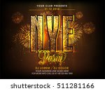 golden glittering text new year ... | Shutterstock .eps vector #511281166