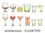 watercolor alcohol set. many... | Shutterstock . vector #511287592