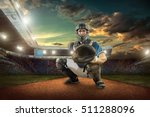 baseball players in action on... | Shutterstock . vector #511288096
