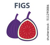 whole figs with slice isolated... | Shutterstock .eps vector #511290886