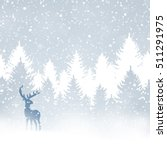 winter christmas forest with... | Shutterstock .eps vector #511291975