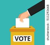voting concept. hand putting... | Shutterstock .eps vector #511292668
