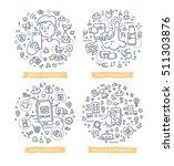 doodle vector illustrations of... | Shutterstock .eps vector #511303876