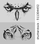 animal eyes. tiger eyes. owl... | Shutterstock .eps vector #511304452