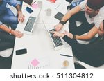 team of skilled marketers... | Shutterstock . vector #511304812
