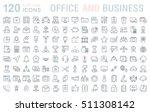 set vector line icons in flat... | Shutterstock .eps vector #511308142