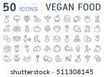 set vector line icons in flat... | Shutterstock .eps vector #511308145